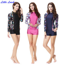 Modest Islamic Women Swimwear Printed Summer Bathing Suit Short Sleeve Muslim Swimsuits Sexy Girl Flat Shorts And Tops Beachwear