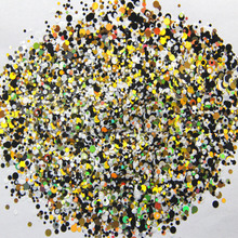 Mixed Dot 33-500grams/lot Mix Colors Round Dot Spangle shape glitter Flake cosmetic powder for nail Gel  (solvent resistant) mixed dot 54 500grams lot mix colors round dot spangle shape glitter flake cosmetic powder for nail gel neon red