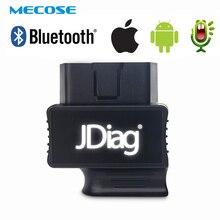 OBD2 автоматический считыватель кодов JDiag FasLink M2 Bluetooth 4,0 телефон диагностический инструмент Автомобильный сканер