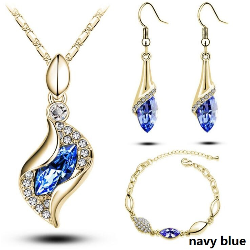 HTB1HJTidsnI8KJjSsziq6z8QpXap - Gold Silver Color Jewelry Sets Bridal Necklace Earrings Bracelet Wedding Crystal Sieraden Women Fashion Rhinestone Jewellery Set