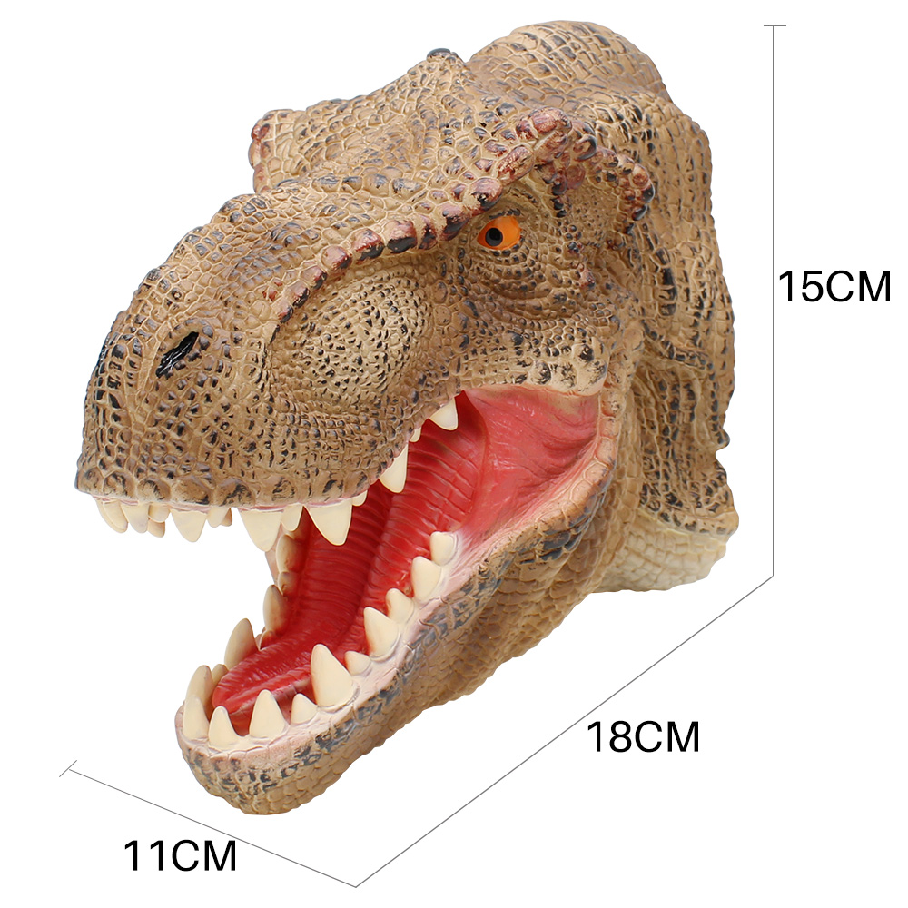 Dinosaur Hand Puppet For Stories Tyrannosaurus Head Hand Puppet Soft Non toxic Figure Toy For Children Realistic Dino Model Gift in Puppets from Toys Hobbies