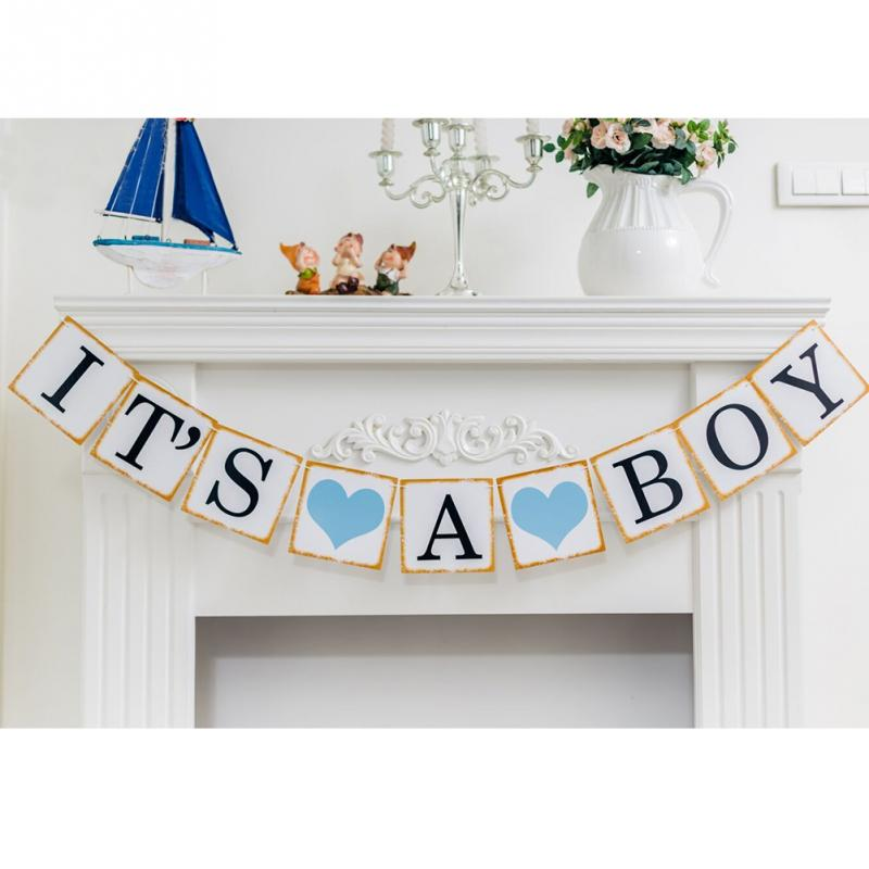 fashion paper letter its a boygirl baby shower banner garlands bunting photo props party decoration