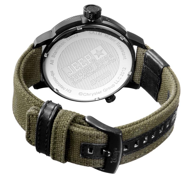 3b1c2477abd Jeep Homens Originais Relógios Militar Esporte Ao Ar Livre de ...