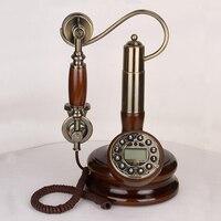 Telefone fixo vintage de madeira sólida  sala de estar  telefone fixo  linha de pouso  telefone antigo