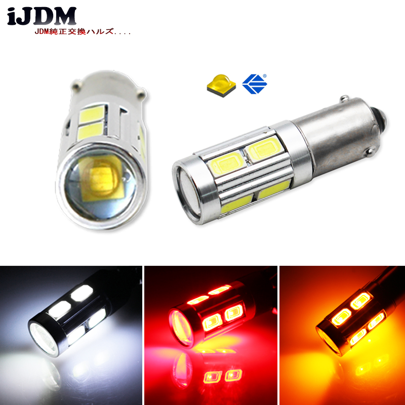 IJDM High Power <font><b>H21W</b></font> BAY9s 120 degress CRE'E <font><b>LED</b></font> Linse Birnen für Backup oder Standlicht, basis: <font><b>h21w</b></font>, bay9s Weiß Rot Bernstein 12 V image