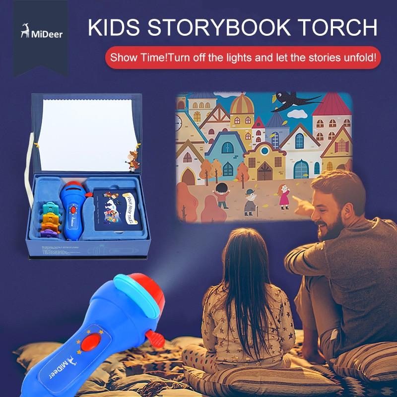 MiDeer Histoire Projecteur Torche Éducatifs Flash Lumière-Up Jouets pour Enfants lampe pour enfants Jouer de Couchage Histoires Réussissent cadeau de noël