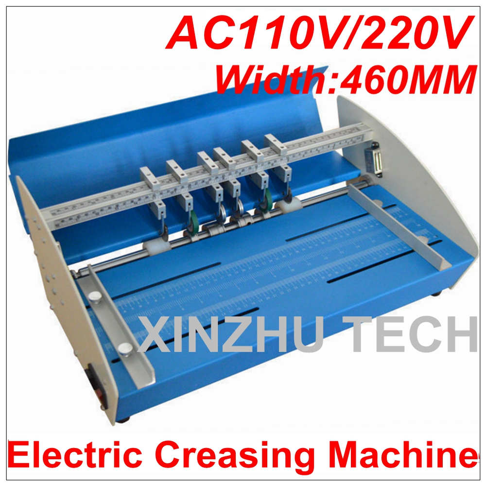 цена на New 18inch 460mm Electric Creasing Machine Scorer Perforator Cutter 3 in 1 Paper Cutting Creasing Perforating Machine 110V/220V