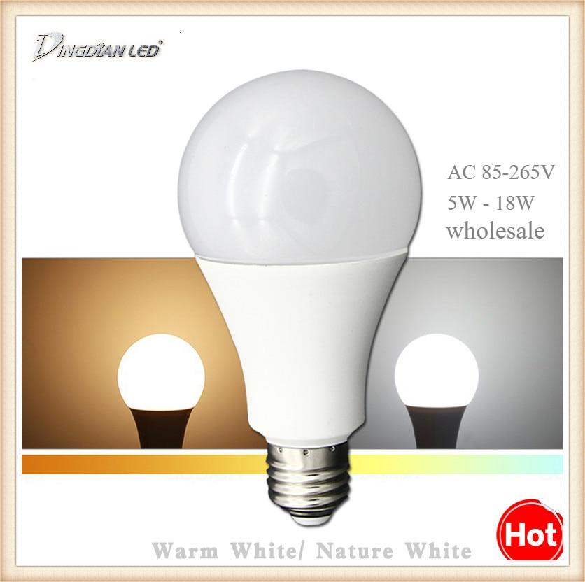 LED Bulb E27 110V 220V High Brightness LED Light 5W 7W 9W 12W 15W 18W Bedroom Livingroom Lamp LED Home Bulb  Home Decor
