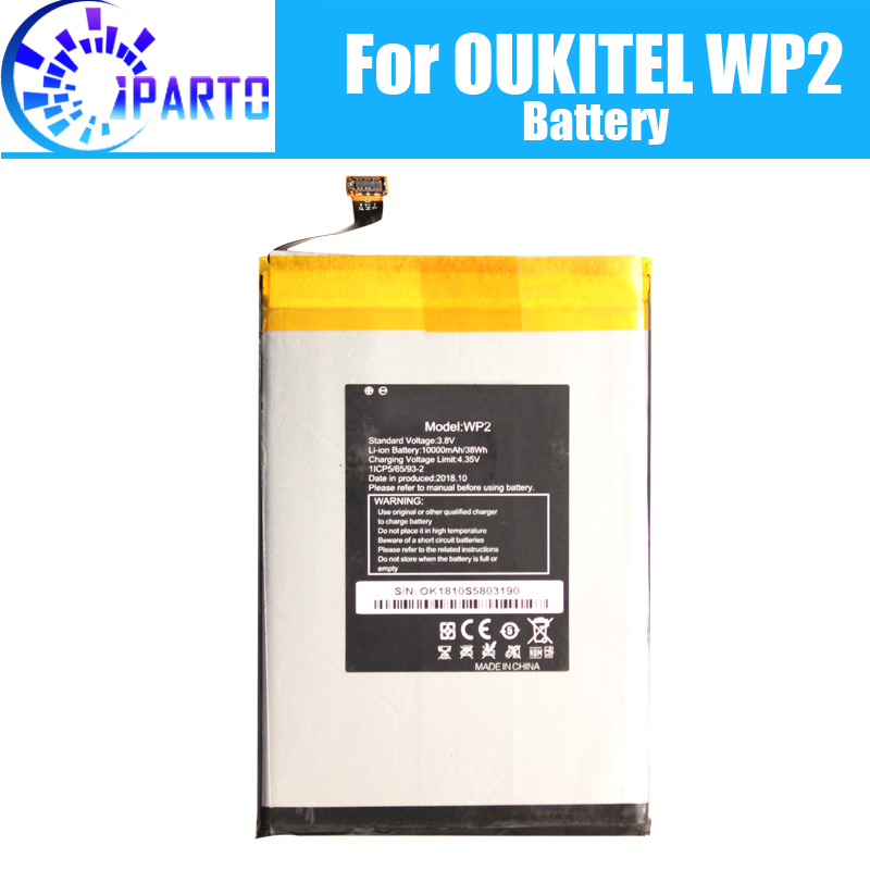OUKITEL WP2 Battery Replacement 100% Original New High Quality High Capacity 10000mAh Battery for OUKITEL WP2OUKITEL WP2 Battery Replacement 100% Original New High Quality High Capacity 10000mAh Battery for OUKITEL WP2