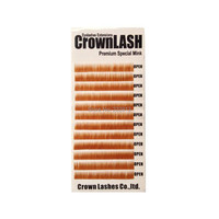 CrownLash Light Golden Brown I 0 10 6mm Eyebrow Extension Lower Lash Extension