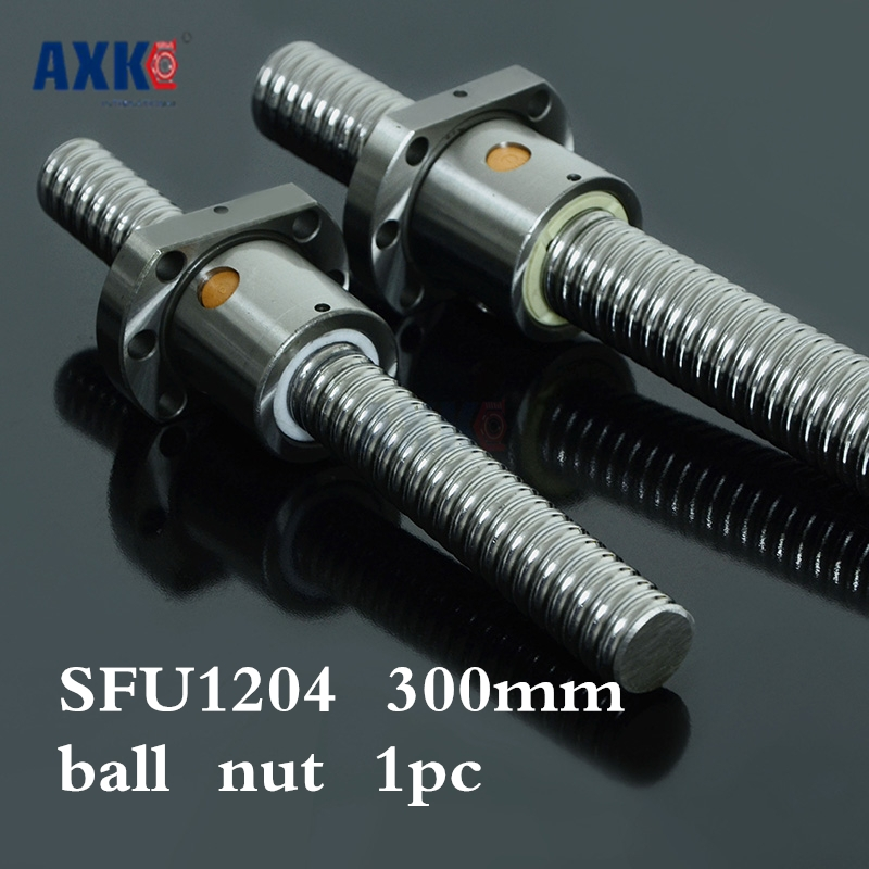 Axk 1204 Ball Screw Sfu1204 300mm Rolled Ballscrew With Single Ballnut For Cnc Parts axk sfu1204 200mm ballscrew with sfu1204 single ballnut for cnc parts bk bf10 machined