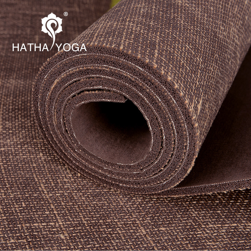 Professional non-slip master 5mm natural linen rubber yoga mat genuine yoga fitness mat widened yoga mat yoga pilates mat pu 5mm for beginners and seniors widened workout yoga pilates gym exercise fitness gym mat