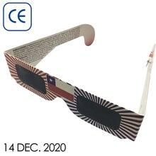 500pcs Wholesale 3D Paper Solar Eclipse Glasses,Safe Eclipse Viewing Glasses abs pet childrens solar eclipse glasses