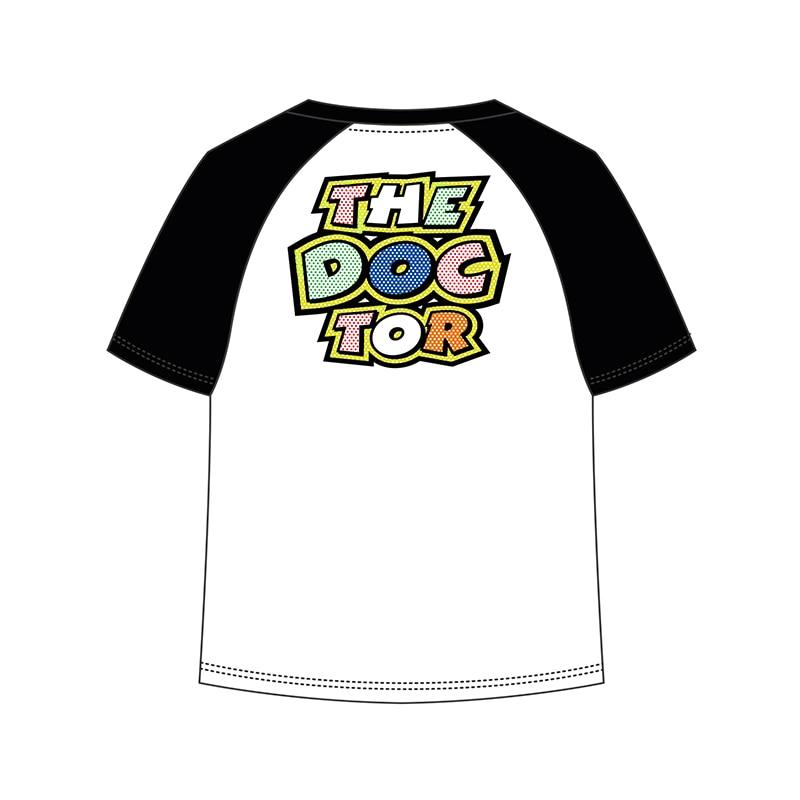 Valentino Rossi VR46 Moto GP Kids T-shirt fumetto the doctor Life Style White TShirt