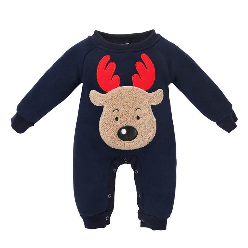 3f5d45a466b63 Weixinbuy Winter Newborn Kids Cute Clothing Baby Boy Long-sleeved Wapiti  Romper Christmas Suit Outfits