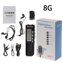 Профессиональный цифровой аудио диктофон с мини USB ручкой, MP3 плеер, диктофон
