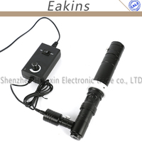 Coaxial Light Monocular HD 1000X Zoom Stereo Microscope Camera C mount Zoom Lens 40mm Ring Zoom Glass Lens