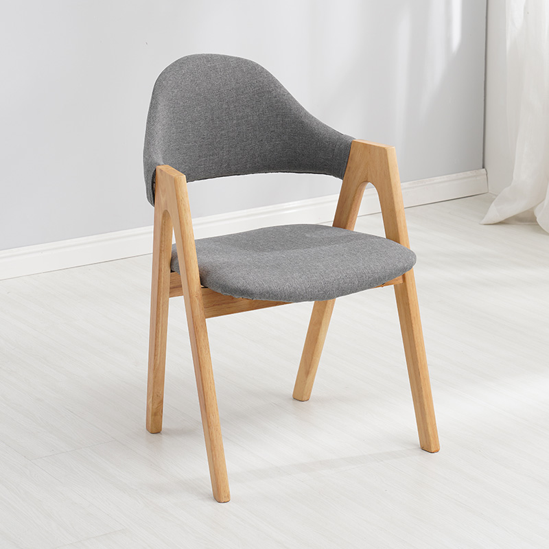 Modern Solid Wood Casual Restaurant Applicable To Dining Chair Office Meeting Computer Chair Study Desk Bedroom A-word Chair