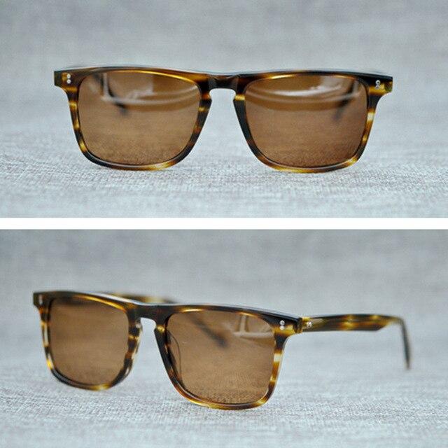 d6d5ddd2bb Vazrobe Vintage Acetate Sunglasses for Men Woman Tortoiseshell Polarized  Sun Glasses 80s Square Brand Famous 2018