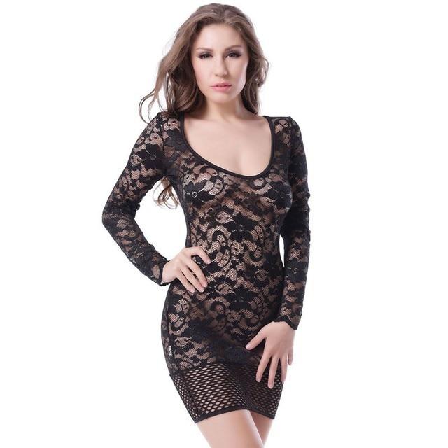 fc6d84a31656 Woman See through through mini dress comfortable lace bodycon dress sexy  lace plus size dress M L XL XXL