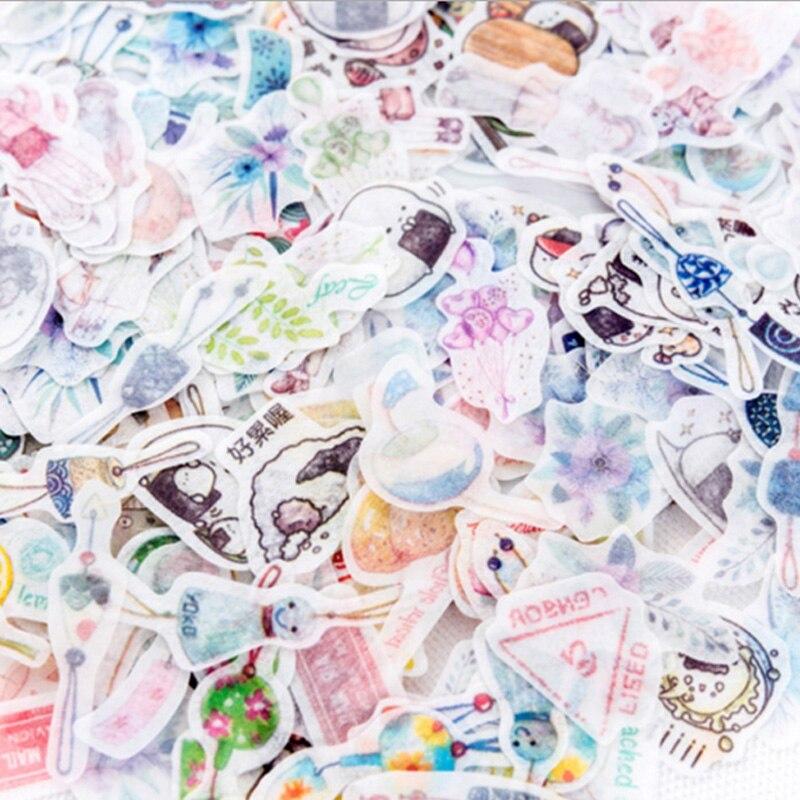 Купить с кэшбэком 40pcs/ bag Flamingos creative Sticker child DIY toy Calendar Album Deco diary sticker scrapbooking planner sticker material