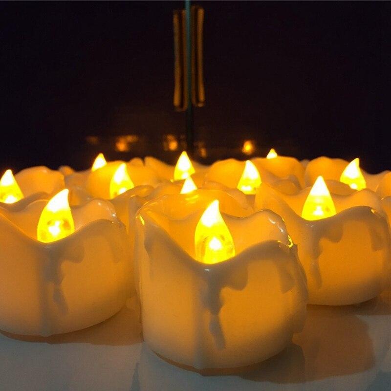 Schlussverkauf Pack Von 12 Fernbedienung Oder Nicht Fern Neue Jahr Kerzen Batterie Powered Led Tee Lichter Tee Lichter Gefälschte Führte Kerze Licht Ostern Kerze Gut FüR Energie Und Die Milz Kerzen Brieftaschen Und Halter