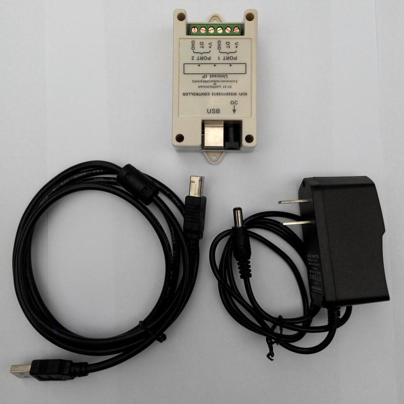 Petit contrôleur WiFi WS2811/WS2812 (DC5V-24V); jusqu'à 340 pixels (sortie 2 univers) - 3