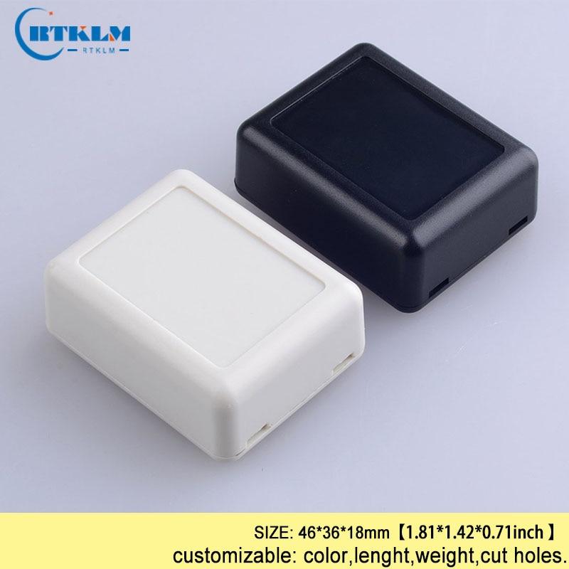2pcs 70 x 42 x 18mm Electronic Plastic DIY Junction Box Enclosure Case Black