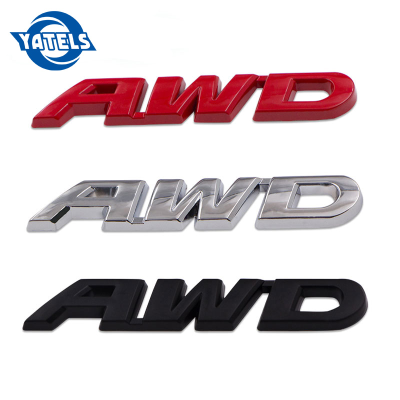 3D Car Styling Chrome Metal Sticker AWD Emblem 4WD Badge Logo Tail Fender Decal for Toyota Impreza Honda 4X4 Off Road SUV image