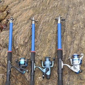 Image 2 - 釣竿 210 センチメートル、 240 センチメートル、 270 センチメートル、 300 センチメートル、 360 センチメートル炭素繊維ロッドスピニング釣竿鋳造旅行ロッド 4 節