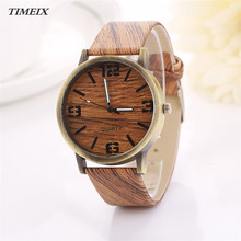 2016 New Design Vintage Wood Grain font b Watches b font Fashion Women Quartz font b