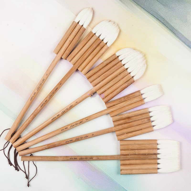 Soft Woolen Hair Paint Brush Bamboo Handle Joint Brush Oil Painting Watercolor Painting Multi-tube Plate Brush Painting SuppliesSoft Woolen Hair Paint Brush Bamboo Handle Joint Brush Oil Painting Watercolor Painting Multi-tube Plate Brush Painting Supplies