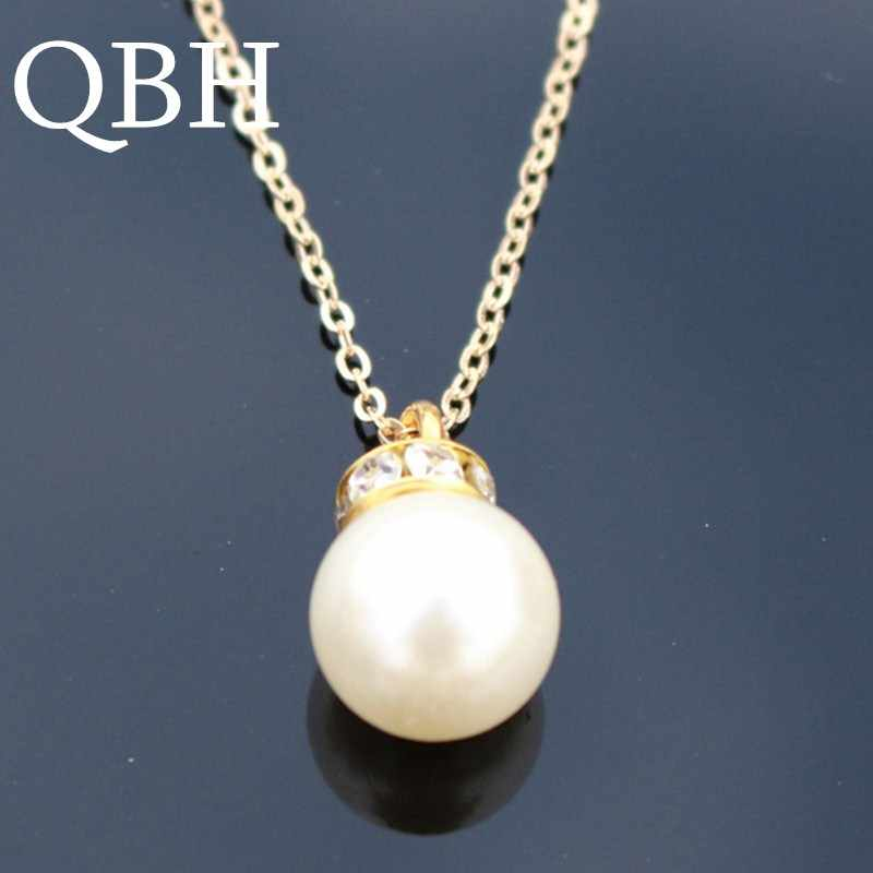 NK803 Fashion Punk Statement Crystal Collares New Fashion Punk Vintage Simulated  Pearl Pendant Necklace For Women 668046738f23