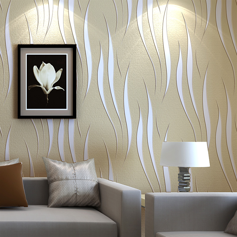 Aliexpress Com Buy Modern Luxury Curves Design Wallpaper Solid Living Rooms Wall Paper Thicken 3d Non Woven Wallpapers Fototapete Home Decor Wz024 From
