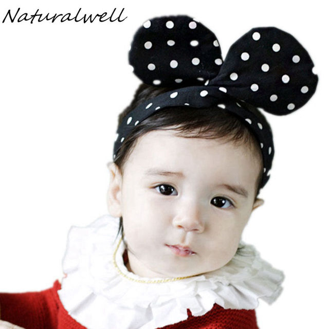 Naturalwell Girls Round Mouse Ear Hairband Girls Party twist Bow Knot  Headband Kids Birthday Headwear Hair Accessories HB056 2ab2cb05c61