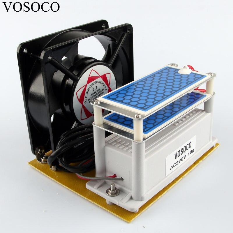 цена на Portable Ozone 10g/h Generator Ozone machine with fan Long Life Ceramic Plate Ozonizer water Air sterilize Purifier treatment
