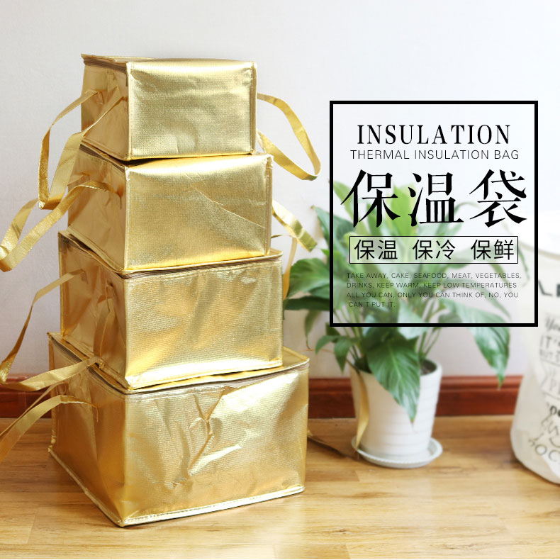 24x24x16cm Food, Fruits, Drink Thermal Insulation Bag, Cold Keeping, Fresh Packet, Travel, Picnic, Outdoor Insulation Box