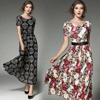 Fashion 2017 Ukraine Women Summer Dress Casual Style Plus Size Lace Dress O Neck Short Sleeve