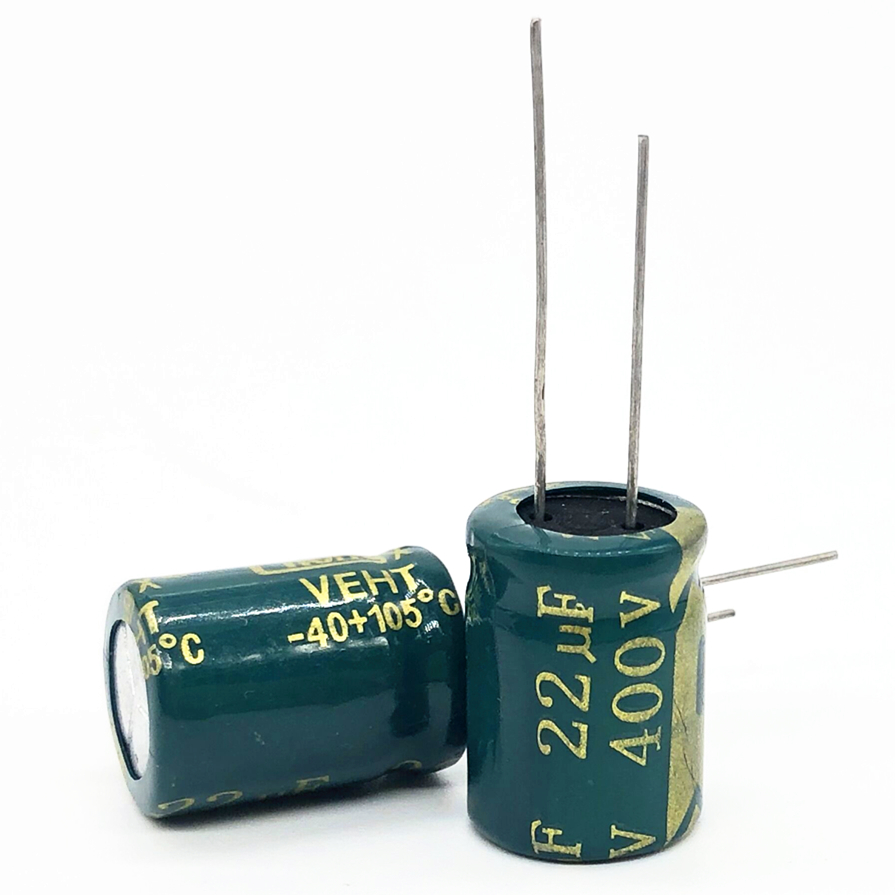 12pcs/lot 400V 22UF High Frequency Low Impedance 13*17 20% RADIAL Aluminum Electrolytic Capacitor 22000NF