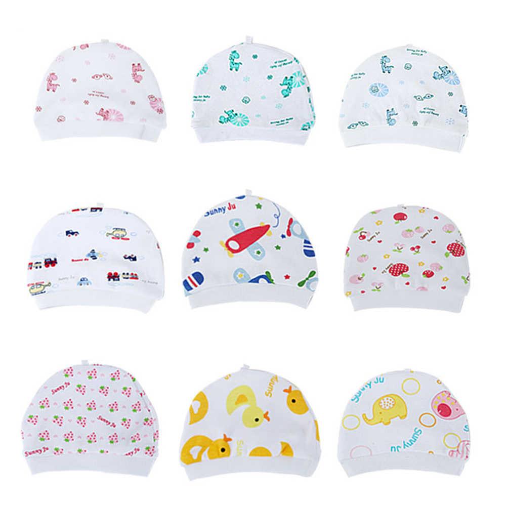 Cartoon Pattern Baby Hats Soft Comfortable Cotton Elastic Beanies Winter Warm Girl Boy Toddler Infant Kids Cute Hat