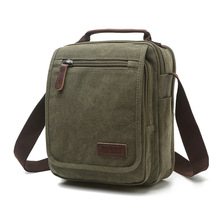 Z.L.D. New vertical canvas school bag high quality messenger bag military shoulder bag large capacity handbag small square bag