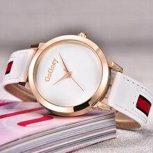 Montres femmes top marque GoGoey de luxe strass Cristal designer noir horloge femmes Montre À Quartz en cuir femininos reloj mujer