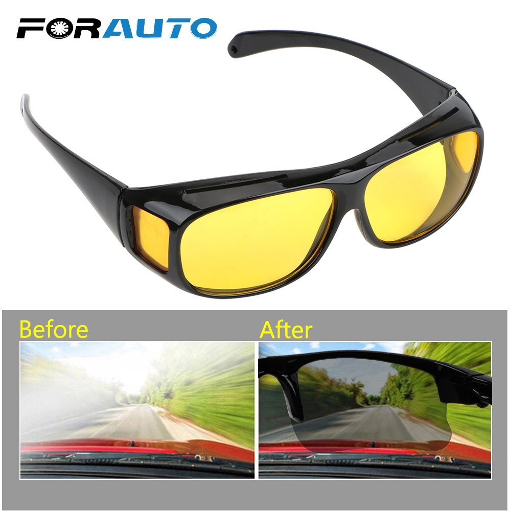 FORAUTO HD Vision Sun Glasses Night Vision Goggles Car Driving Glasses Polarized Sunglasses Eyewear UV Protection Unisex
