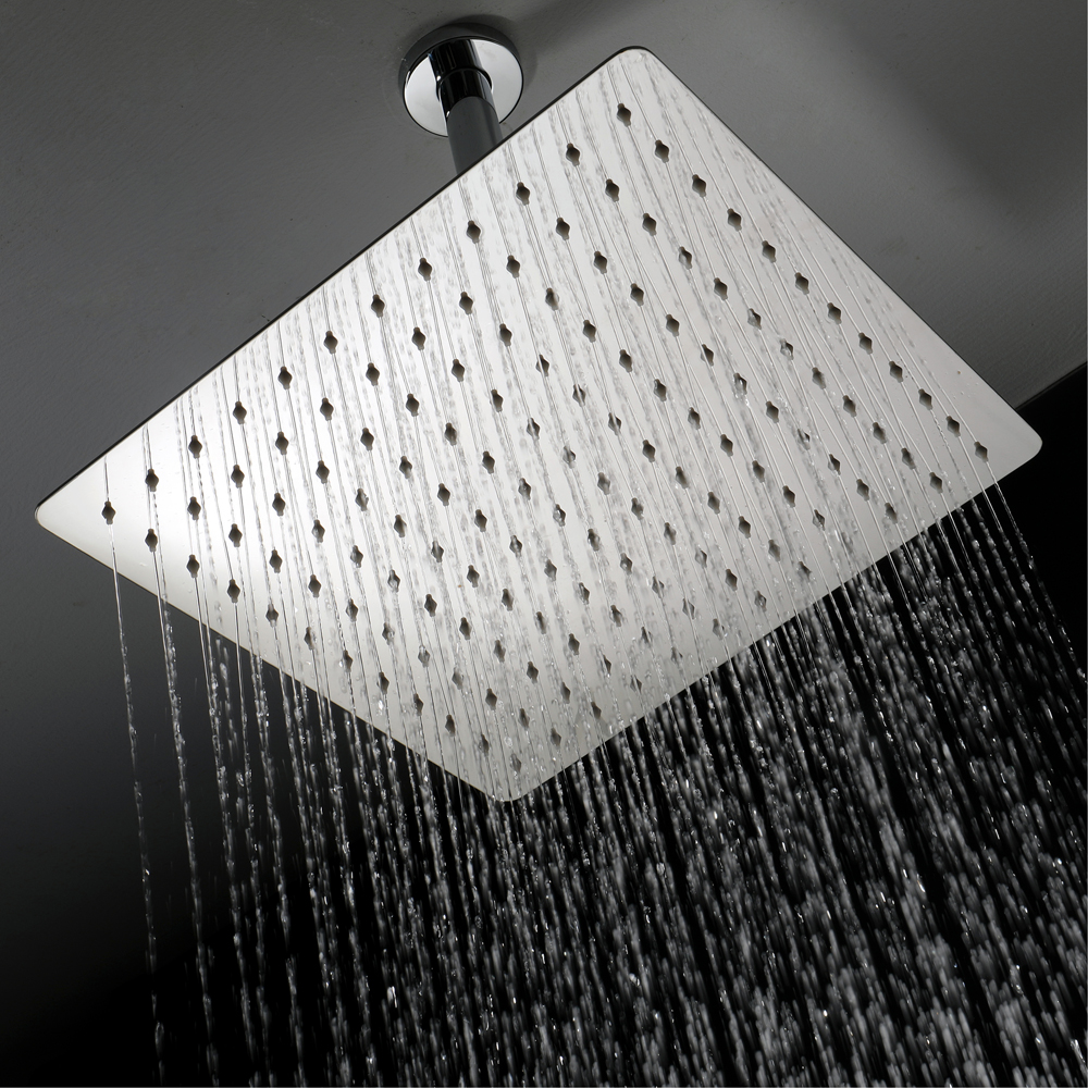 HIDEEP bathroom shower top spray stainless steel chrome-plated ultra-thin 12-inch square shower head HIHSPJ015