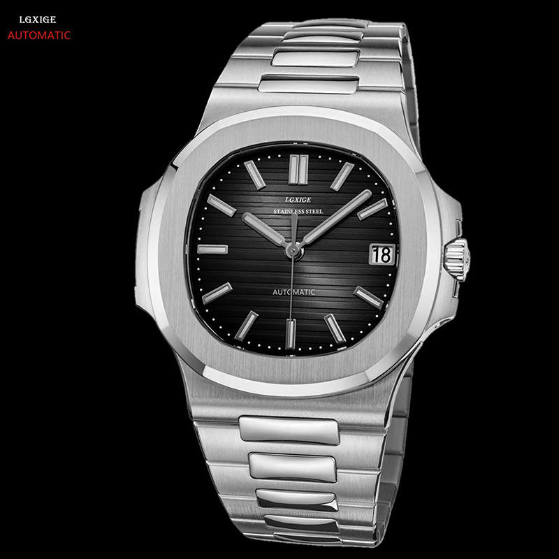 Automatic Mechanical Watch Men Sapphire Crystal Stainless Steel Men Watches Luxury Brand Designer Waterproof Watch Mens 2019