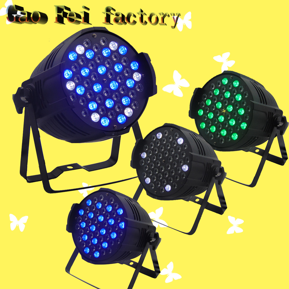 4 Pcs/lot 54 pcs 3W LED led par light rgbw led flat par light led lamp night light for wedding decoration good group diy kit led display include p8 smd3in1 30pcs led modules 1 pcs rgb led controller 4 pcs led power supply