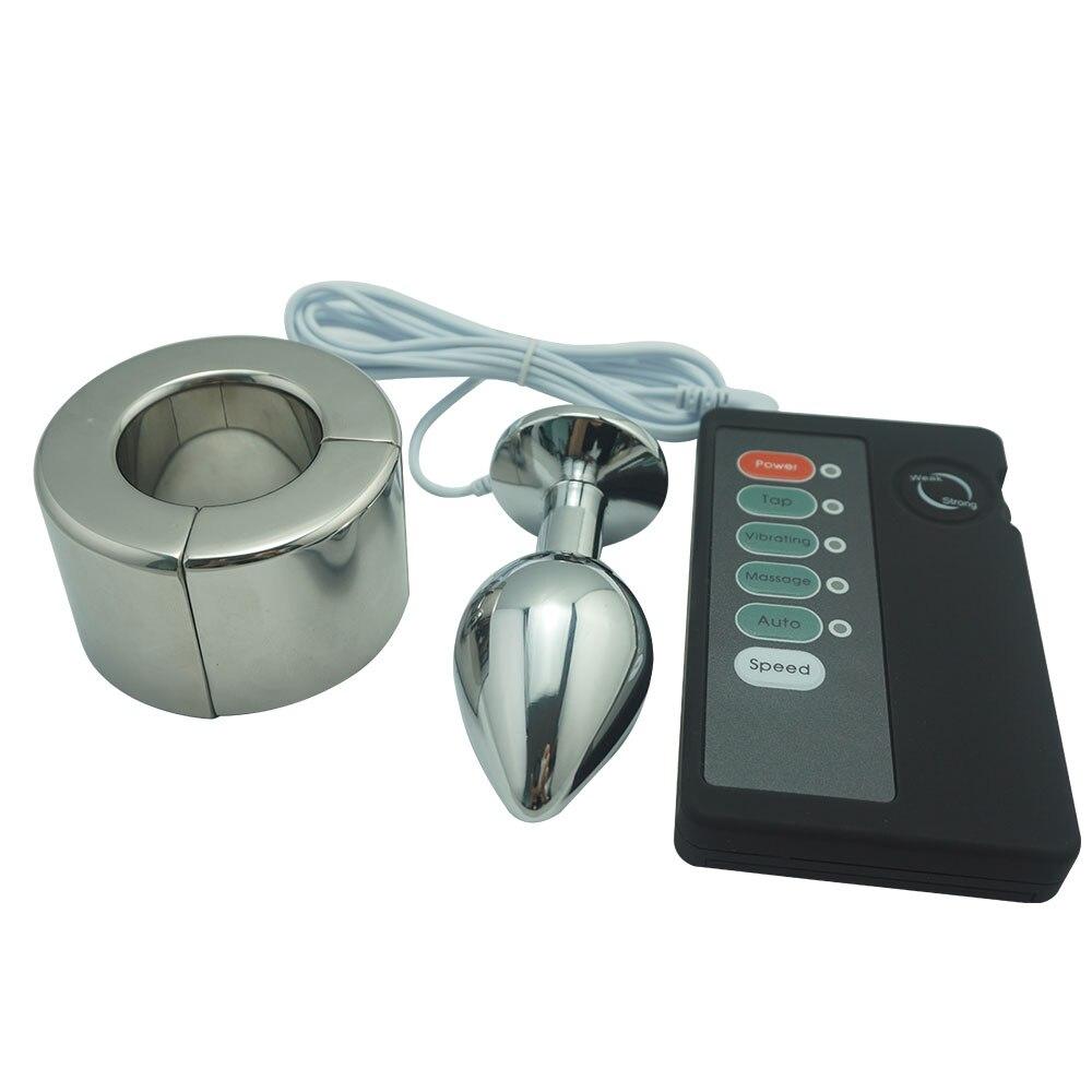 ღ ღElectro shock set metal anal plug heigt mm magnético Acero ...
