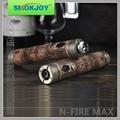 En stock venta caliente de Voltaje Variable Cigarrillo Electrónico Smokjoy Nfire Max Madera mod N Fuego Max mod mecánica 5 Unids/lote