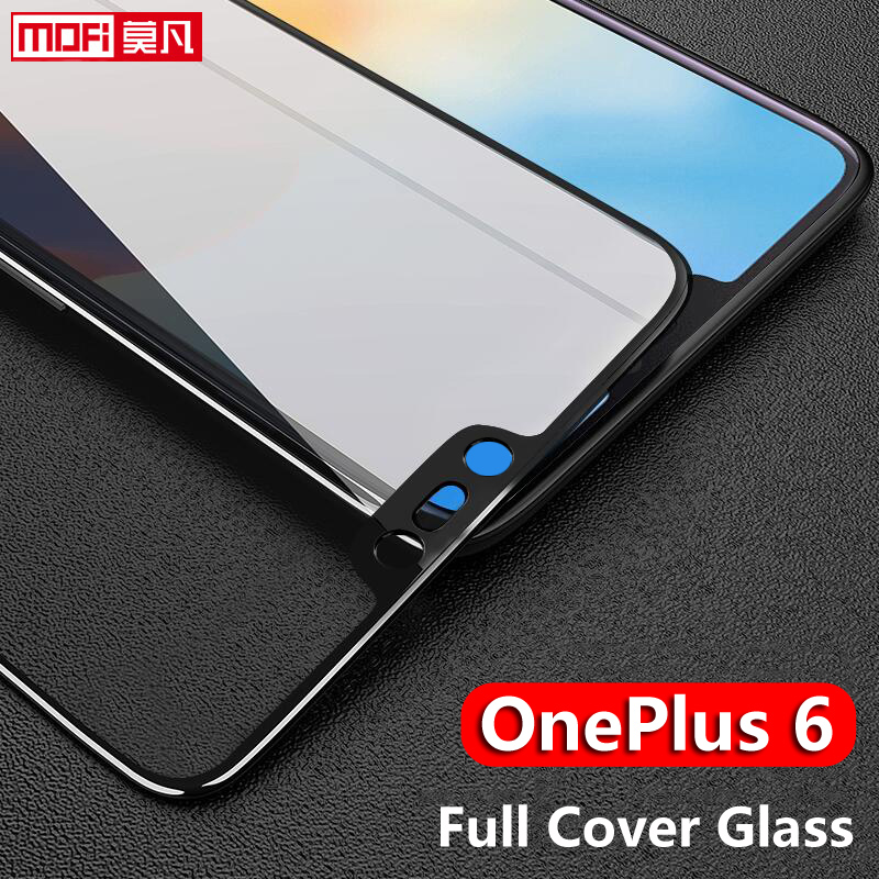 Oneplus 6 Tempered Glass Oneplus 6 Screen Protector 9H 2.5D Mofi Original Full Glue Full Cover Premium One Plus 6 Tempered Glass