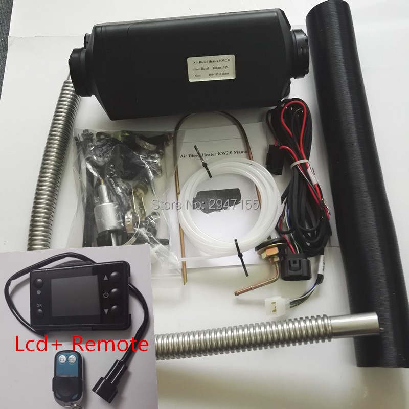 12V 2KW Parking Engine Pre-Heater with 1 x Metal Tank 2 x Vent,2 xDuct,1 xMuffler Happybuy 5KW Diesel Air Heater for RV Bus Motorhome Boat Car